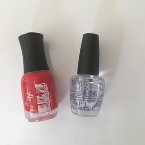 OPI Accessories | Orly Mini Nail Polishes In Haute Red Clear | Poshmark